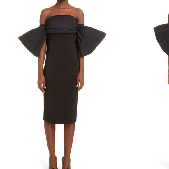 Givenchy Bow Sleeve Cocktail Dress
